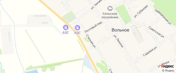 Степная улица на карте Вольного села с номерами домов