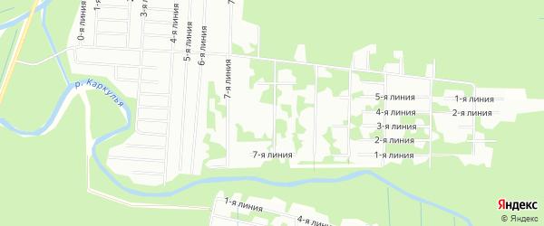 Карта садового некоммерческого товарищества Вереска в Архангельской области с улицами и номерами домов