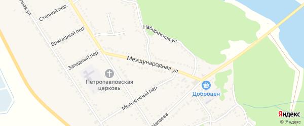 Международная улица на карте Вольного села с номерами домов