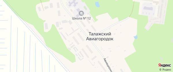 Авиационная улица на карте Архангельска с номерами домов
