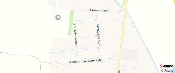 Улица Керашева на карте аула Ходзь с номерами домов