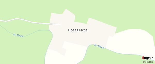 Речной переулок на карте поселка Новой с номерами домов