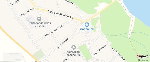 Улица Чапаева на карте Вольного села с номерами домов