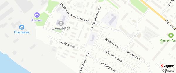 Улица Циолковского на карте Архангельска с номерами домов