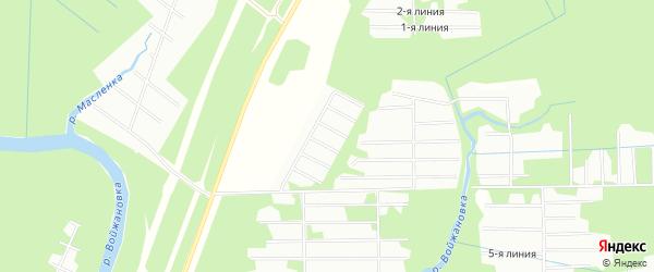 Карта садового некоммерческого товарищества Чаечки в Архангельской области с улицами и номерами домов