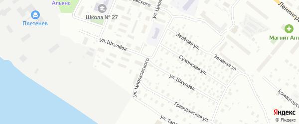 Улица Шкулева на карте Архангельска с номерами домов