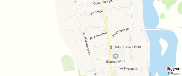Улица Калинина на карте аула Ходзь с номерами домов