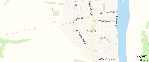 Переулок Некрасова на карте аула Ходзь с номерами домов