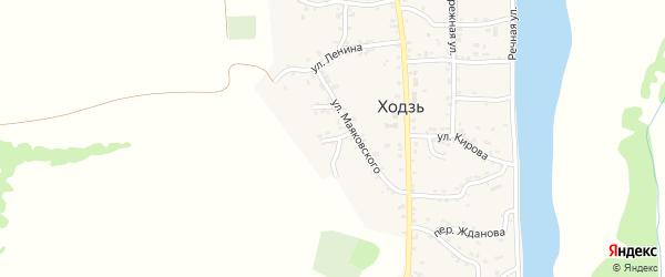 Переулок Лермонтова на карте аула Ходзь с номерами домов