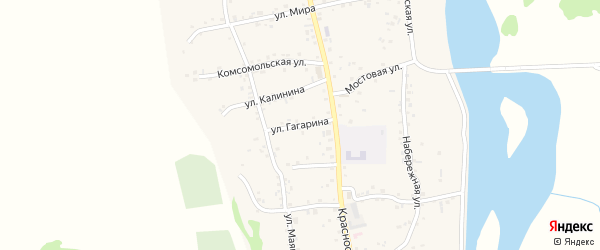 Улица Гагарина на карте аула Ходзь с номерами домов