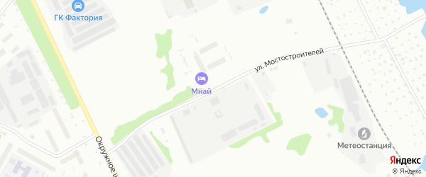 Улица Мостостроителей на карте Архангельска с номерами домов