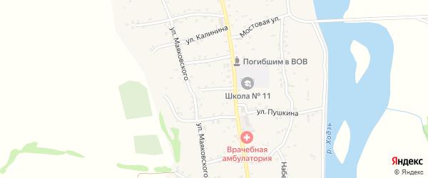 Улица Свердлова на карте аула Ходзь с номерами домов