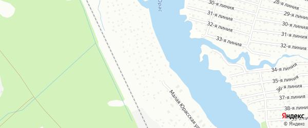 Малая Юрасская улица на карте Архангельска с номерами домов