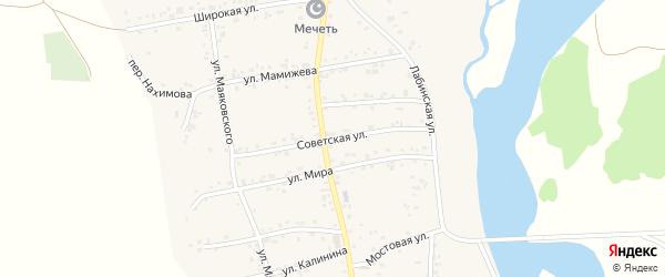 Советская улица на карте аула Ходзь с номерами домов