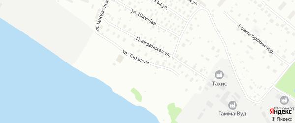 Улица Тарасова на карте Архангельска с номерами домов
