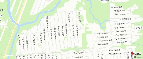 Карта садового некоммерческого товарищества Волживки в Архангельской области с улицами и номерами домов