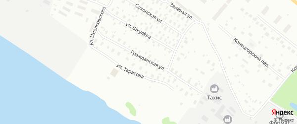 Гражданская улица на карте Архангельска с номерами домов