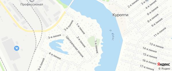 Поселок Расчалка 1 Линия на карте Архангельска с номерами домов