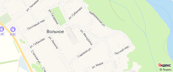 Улица Мичурина на карте Вольного села с номерами домов