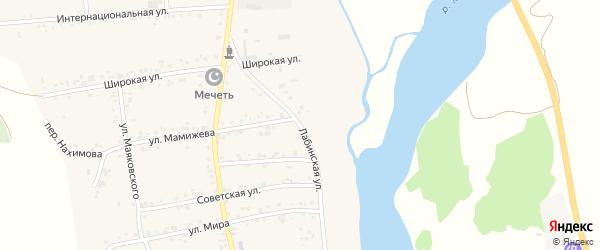 Лабинская улица на карте аула Ходзь с номерами домов