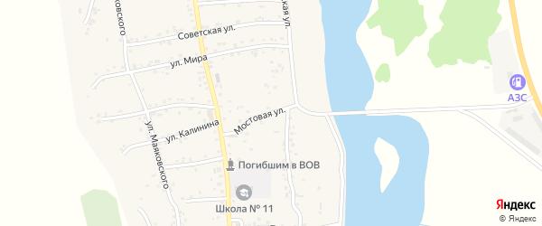 Мостовая улица на карте аула Ходзь с номерами домов