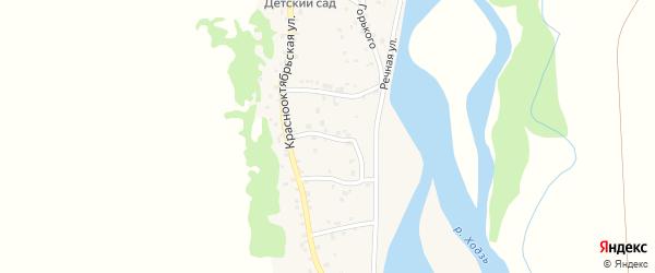 Улица Плеханова на карте аула Ходзь с номерами домов