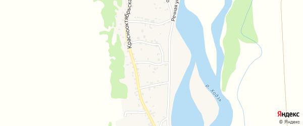 Улица Дзержинского на карте аула Ходзь с номерами домов