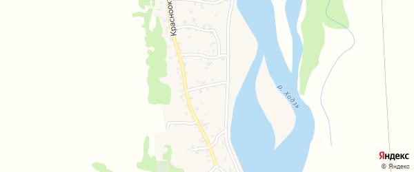 Улица Жуковского на карте аула Ходзь с номерами домов