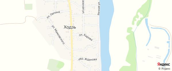 Улица Кирова на карте аула Ходзь с номерами домов