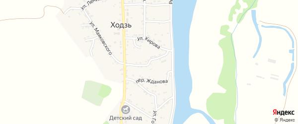 Коммунистическая улица на карте аула Ходзь с номерами домов