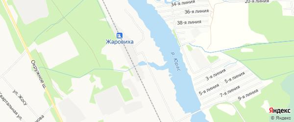Карта поселка СНТ Локомотива города Архангельска в Архангельской области с улицами и номерами домов