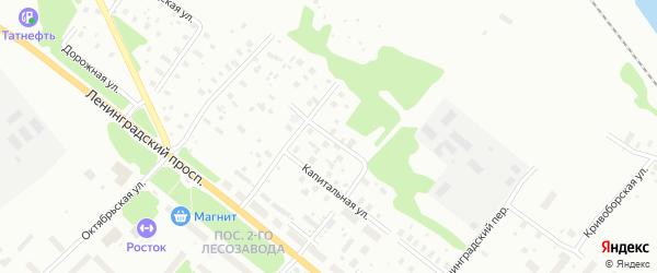 Красносельская улица на карте Архангельска с номерами домов