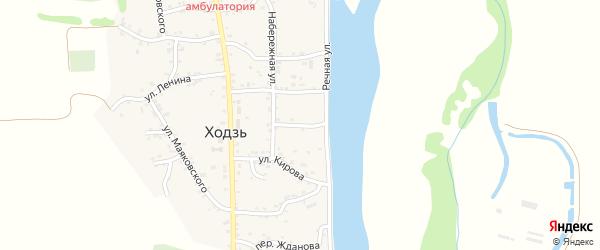 Переулок Суворова на карте аула Ходзь с номерами домов