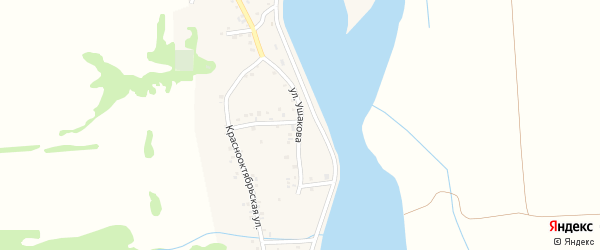 Улица Ушакова на карте аула Ходзь с номерами домов