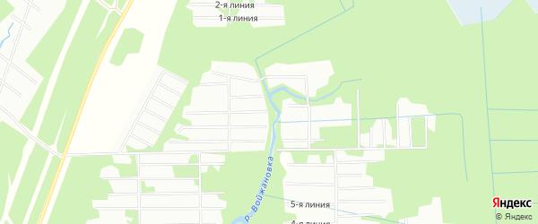 Карта садового некоммерческого товарищества Заречного в Архангельской области с улицами и номерами домов