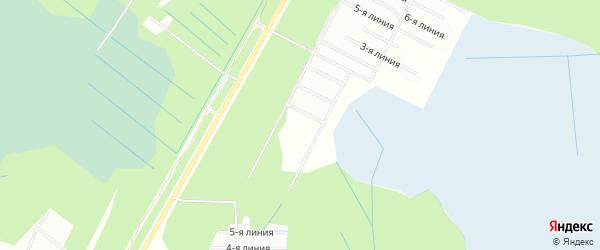 СТ Завалинка на карте Приморского района с номерами домов