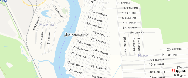 СНТ ЯГОДНИК на карте Приморского района с номерами домов
