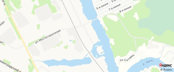 Карта поселка СОТА Лотоса города Архангельска в Архангельской области с улицами и номерами домов