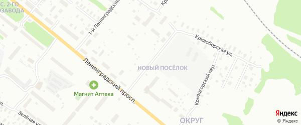 Ленинградский 2-й переулок на карте Архангельска с номерами домов