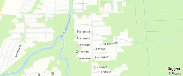 Карта садового некоммерческого товарищества Месяца в Архангельской области с улицами и номерами домов