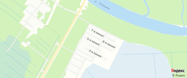 Карта садового некоммерческого товарищества Транспортника в Архангельской области с улицами и номерами домов
