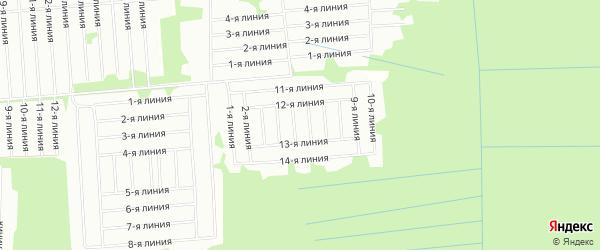 Карта садового некоммерческого товарищества Помора в Архангельской области с улицами и номерами домов