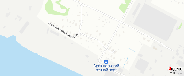Старожаровихинская улица на карте Архангельска с номерами домов