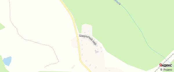 Школьный переулок на карте поселка Норменги с номерами домов