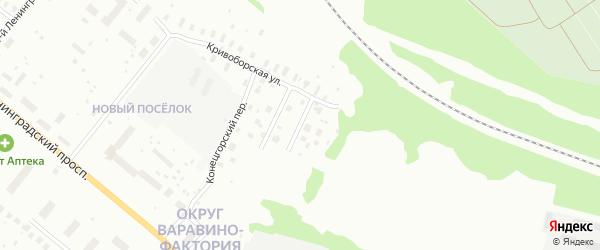 Лявлинский переулок на карте Архангельска с номерами домов