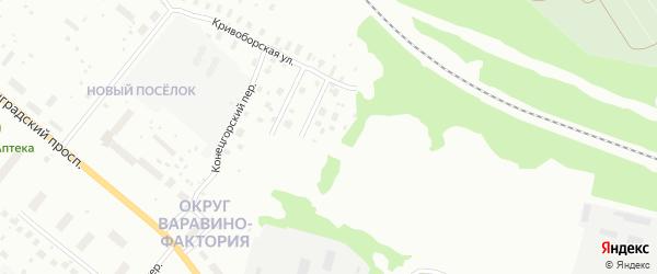 Бобровский переулок на карте Архангельска с номерами домов