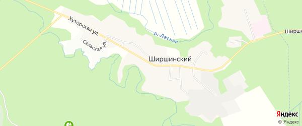 Карта Ширшинского поселка в Архангельской области с улицами и номерами домов