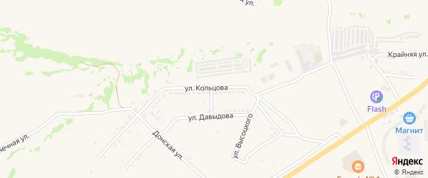 Улица Кольцова на карте Белой Калитвы с номерами домов