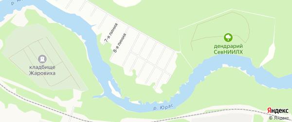 Карта Лесного садового некоммерческого товарищества в Архангельской области с улицами и номерами домов