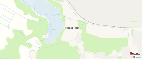 Карта деревни Тараканово в Архангельской области с улицами и номерами домов